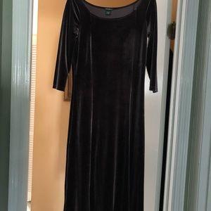 Dark Brown Velvet Dress